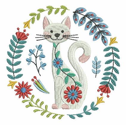 Folk Art Cats-5