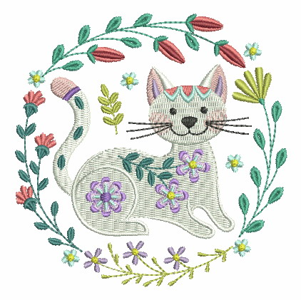 Folk Art Cats-7