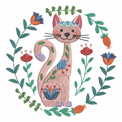 Folk Art Cats-8
