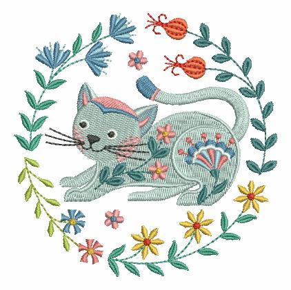 Folk Art Cats-9
