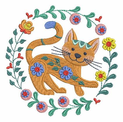 Folk Art Cats-10
