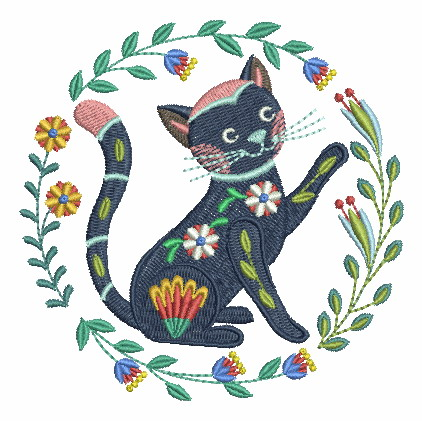 Folk Art Cats-11