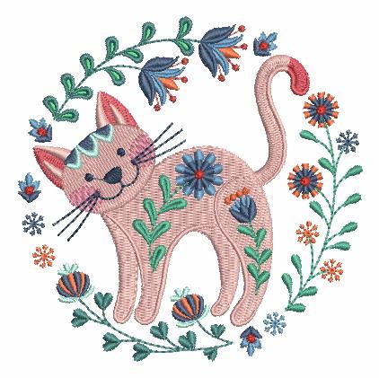 Folk Art Cats-12