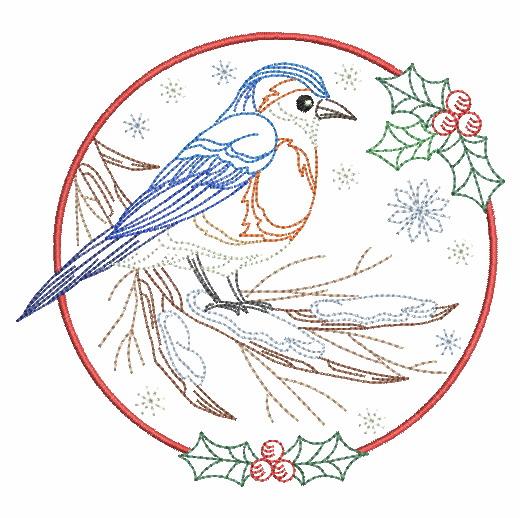Vintage Winter Birds-3