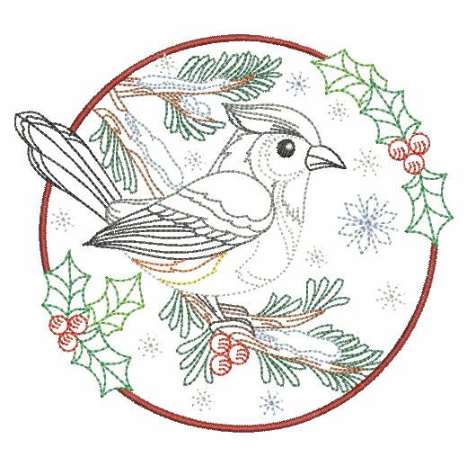 Vintage Winter Birds-4