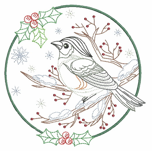 Vintage Winter Birds-6