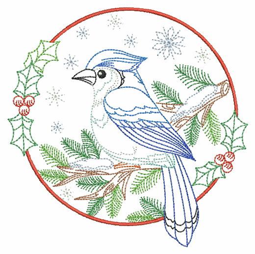 Vintage Winter Birds-7
