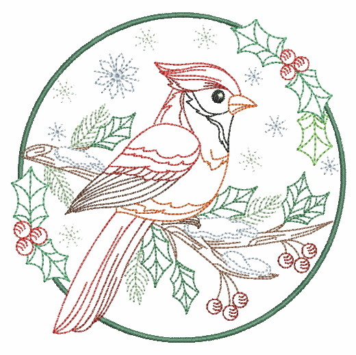 Vintage Winter Birds-8
