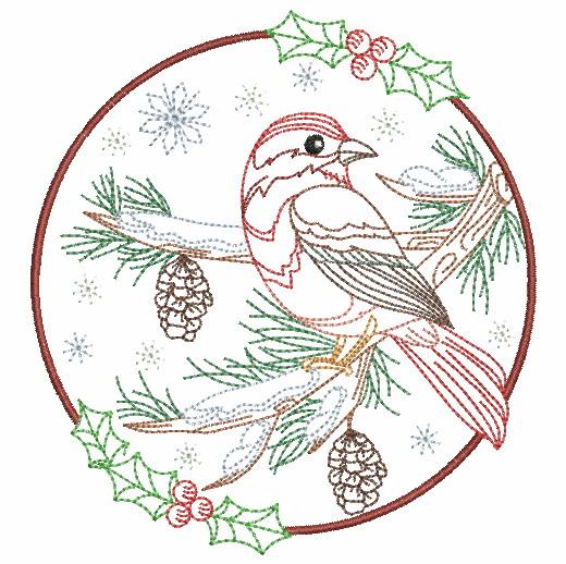 Vintage Winter Birds-9