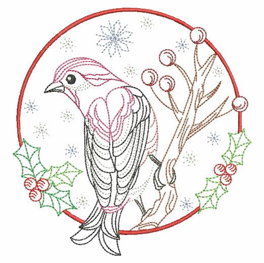 Vintage Winter Birds-10