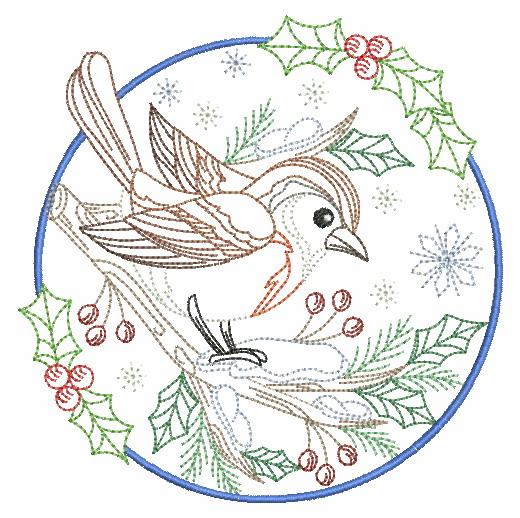 Vintage Winter Birds-11