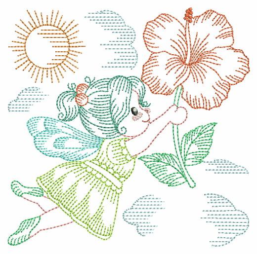 Vintage Flower Fairy-4