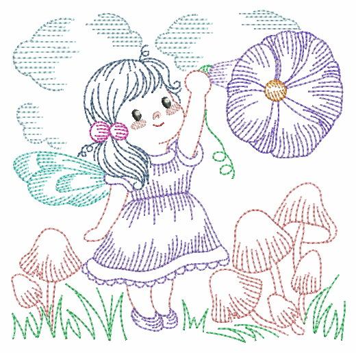 Vintage Flower Fairy-5