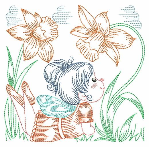 Vintage Flower Fairy-7