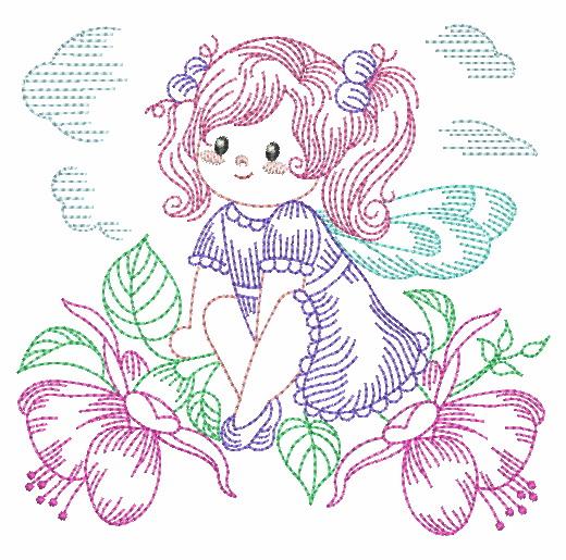 Vintage Flower Fairy-8