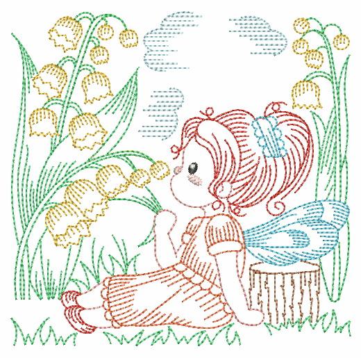 Vintage Flower Fairy-9