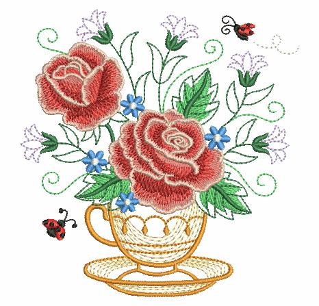 Teacup In Bloom 5-4