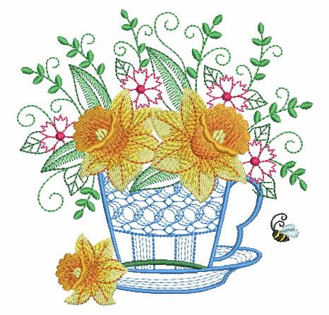 Teacup In Bloom 5-5