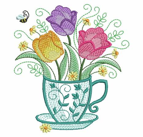 Teacup In Bloom 5-9