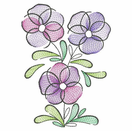 Doodle Flowers 4-9
