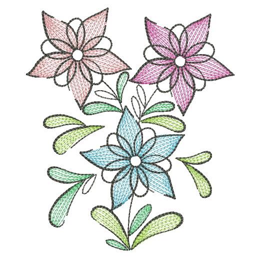Doodle Flowers 4-10