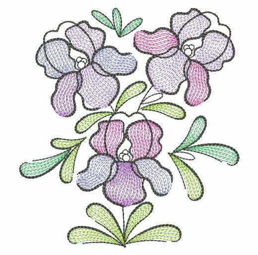 Doodle Flowers 4-11