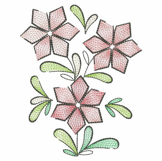 Doodle Flowers 4-12