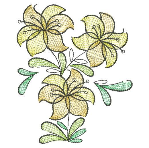 Doodle Flowers 4-13