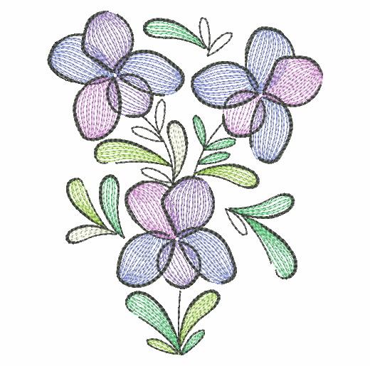 Doodle Flowers 4-14