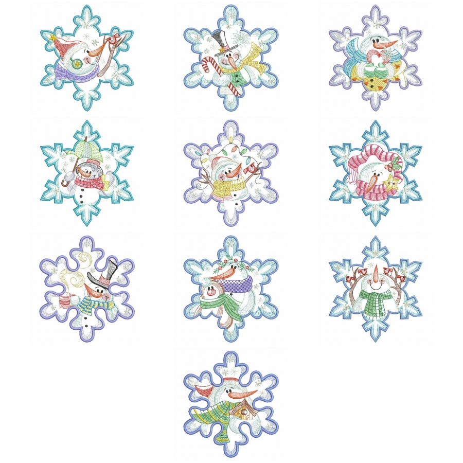 Snowflake Snowman 3