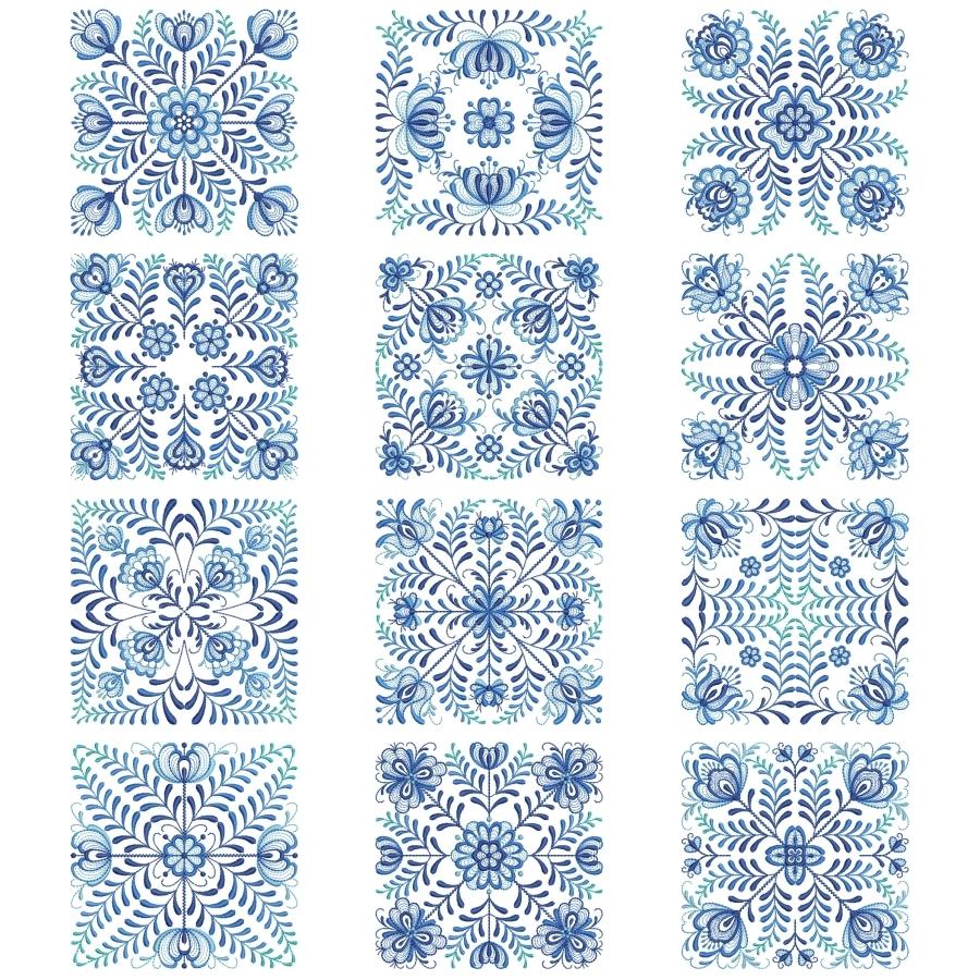 Delft Blue Quilt Block