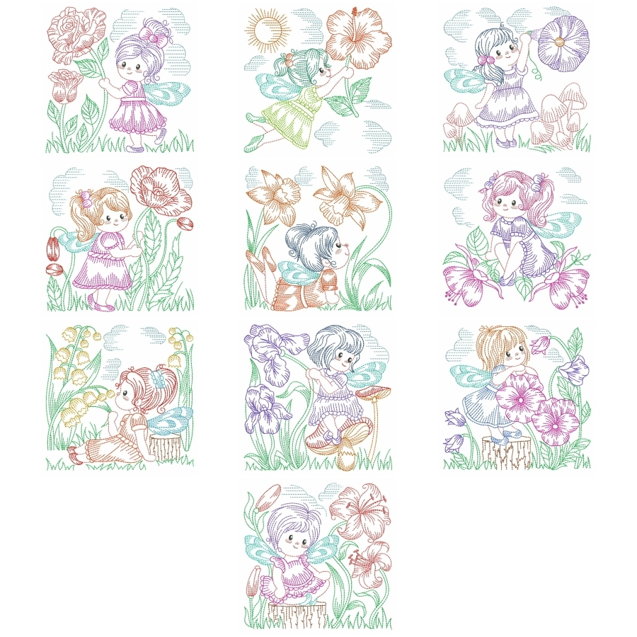 Vintage Flower Fairy