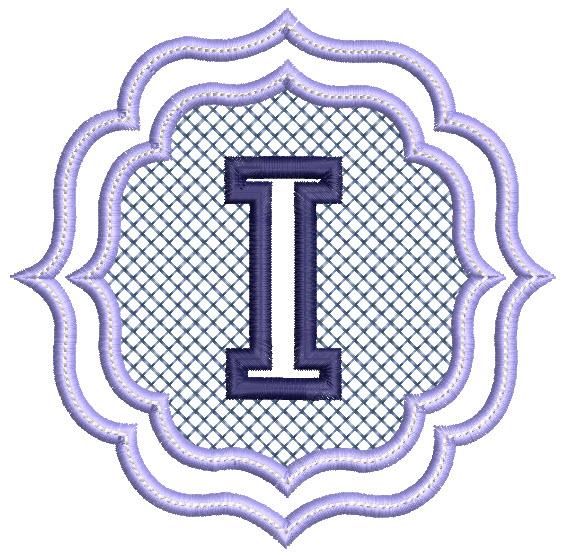 836 Embossed Monogram Font