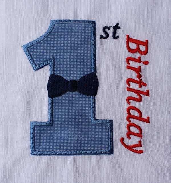 01 Birthday Bow Tie Number One