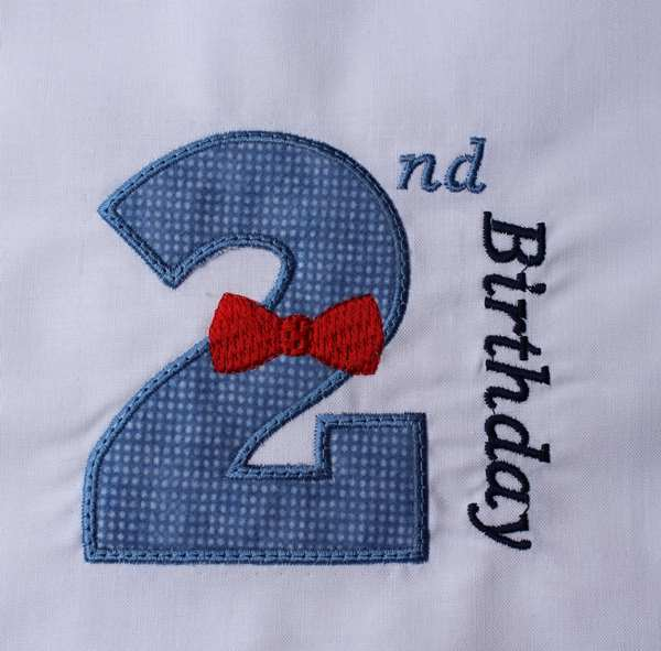 02 Birthday Bow Tie Number Two