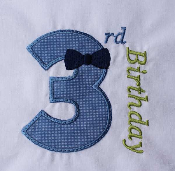 03 Birthday Bow Tie Number Three