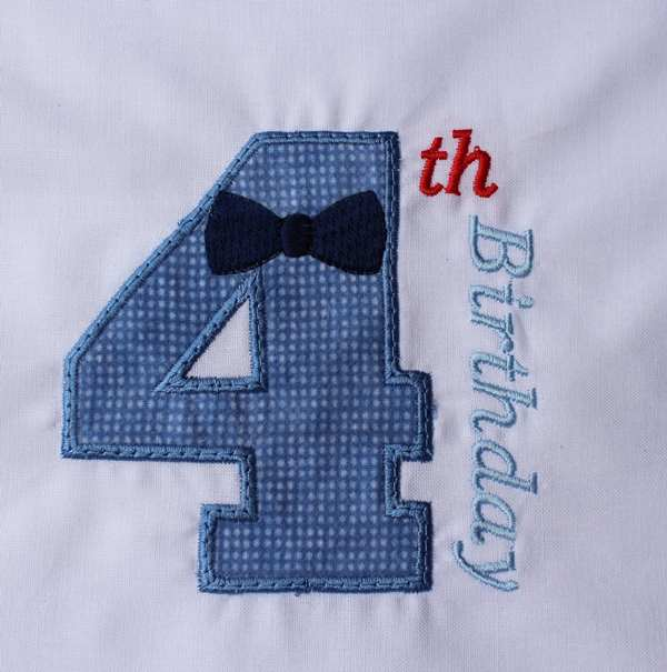 04 Birthday Bow Tie Number Four