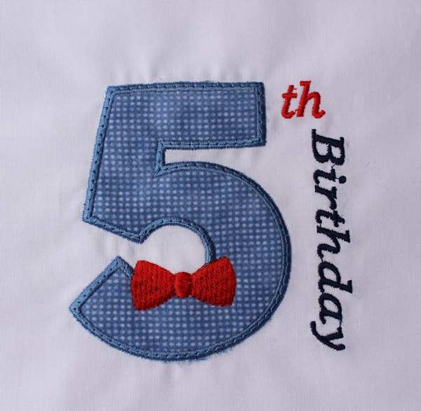 05 Birthday Bow Tie Number Five