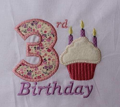 03 Birthday Cupcakes Number Three