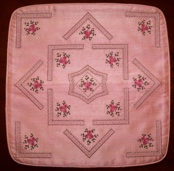 Pretty Pink Rose Cushions