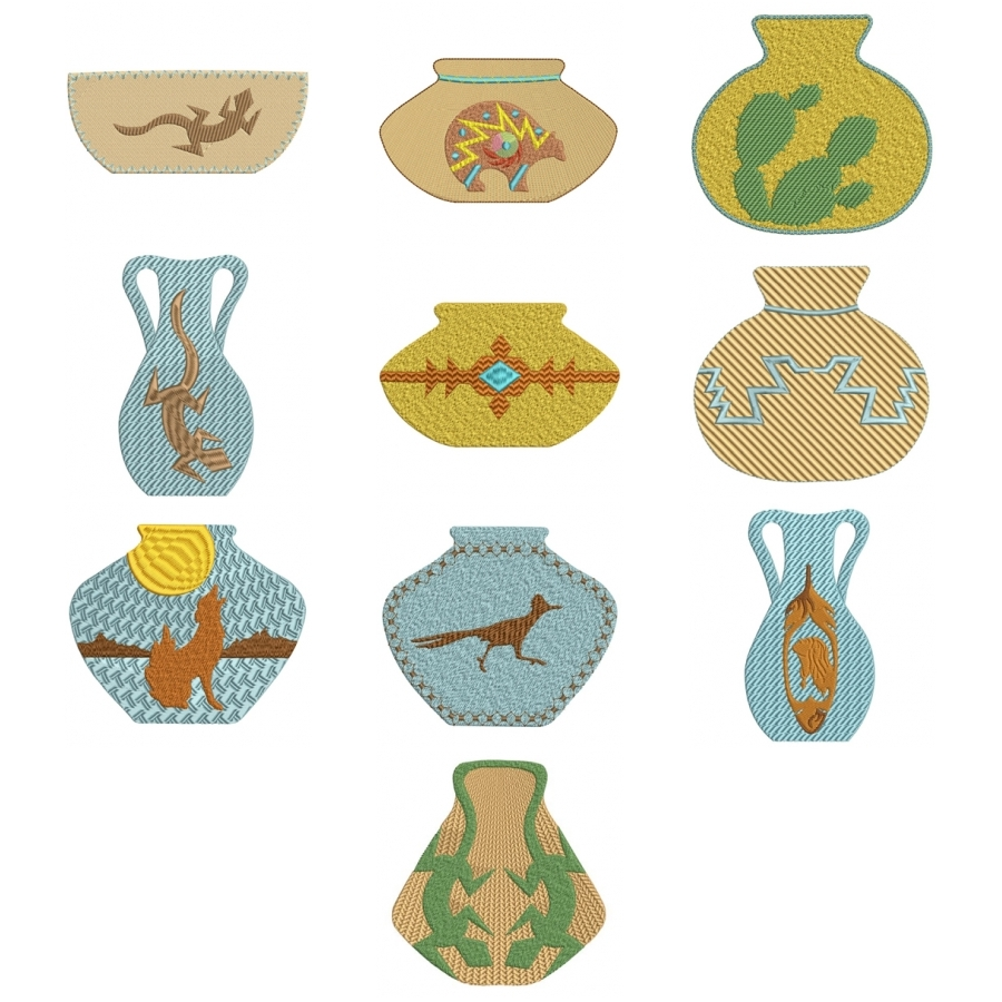 Colorful SW Pottery