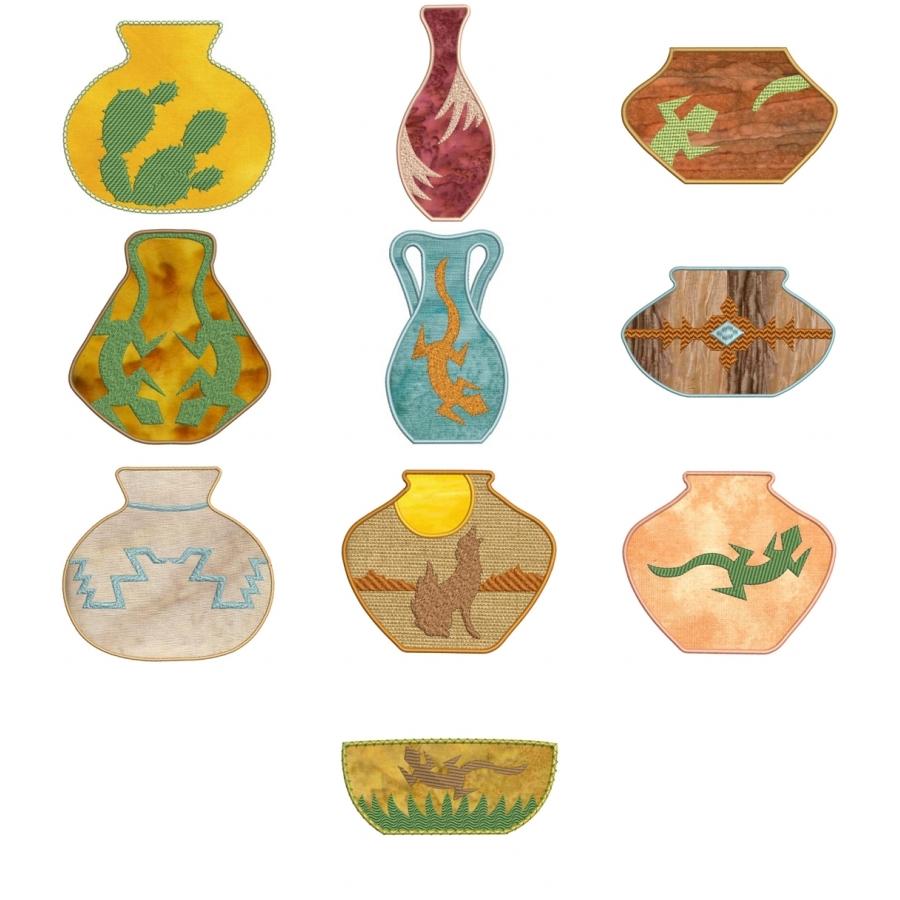 Applique Southwest Pottery