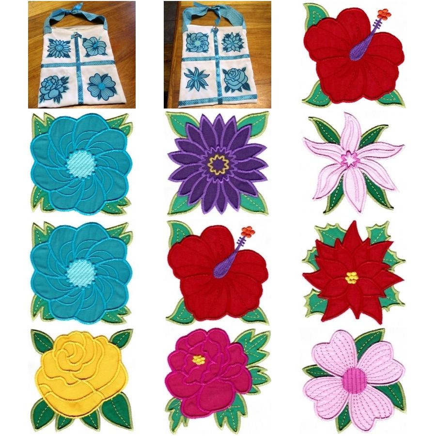 Collection of Applique Florals