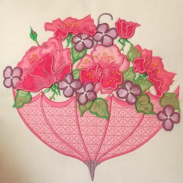 3D Roses and Umbrella