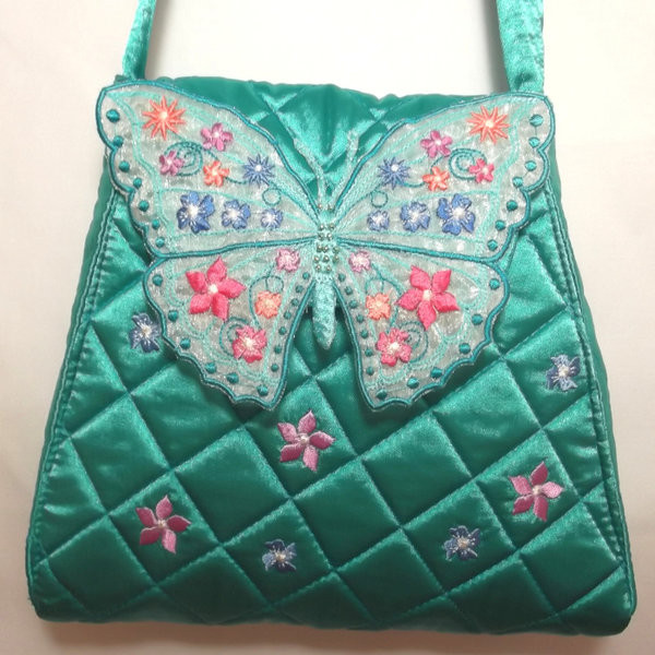 Floral Butterfly Purse