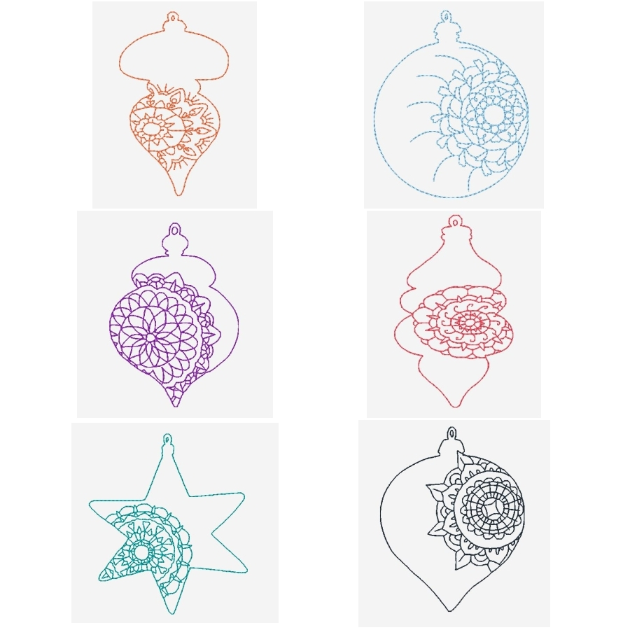 Color Work Ornaments