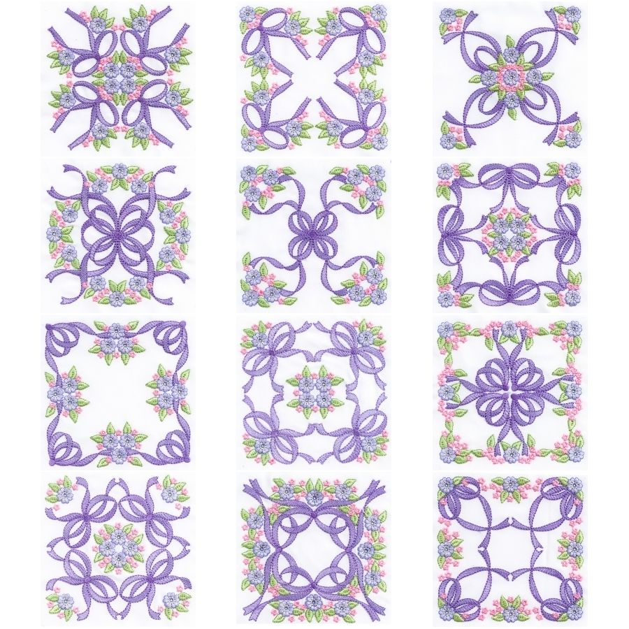 FOREVER BOWS 8X8 LARGE QUILT BLOCKS