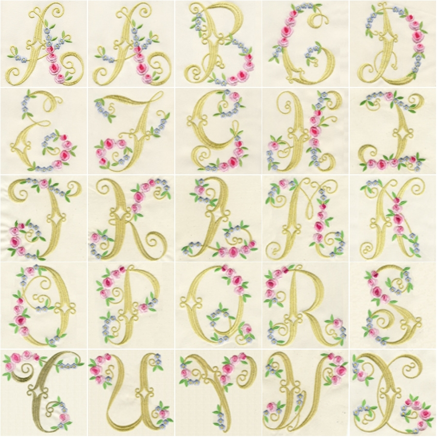 Elegant Rose Monograms