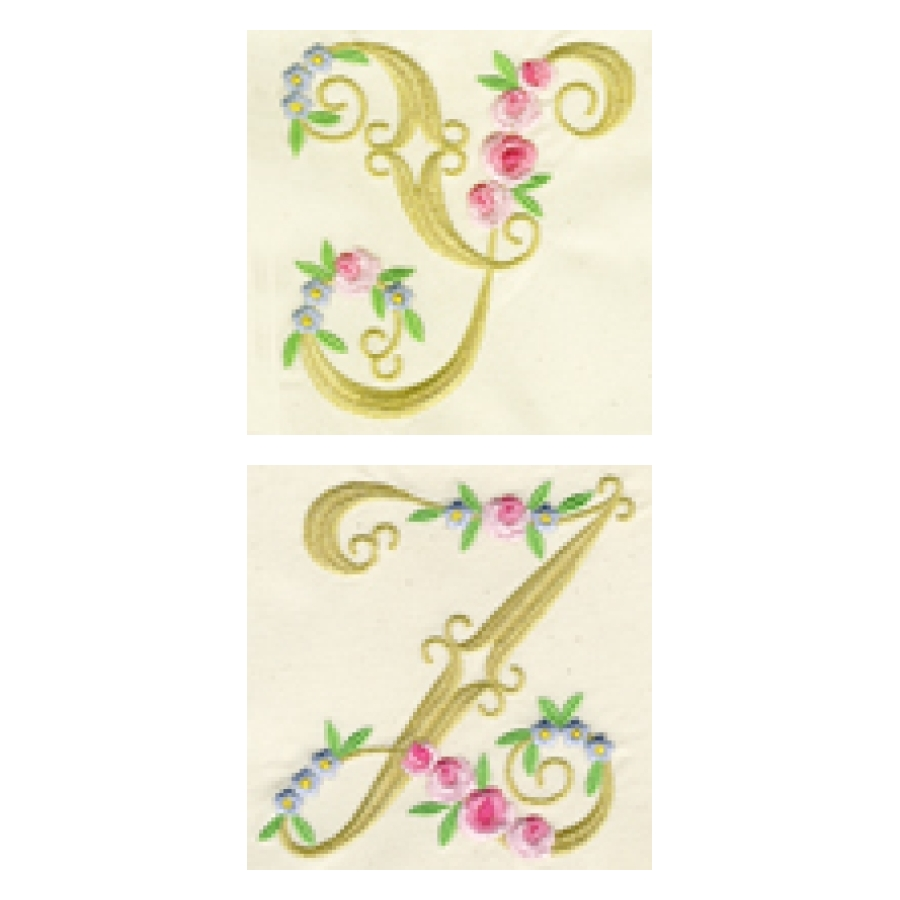 Elegant Rose Monograms