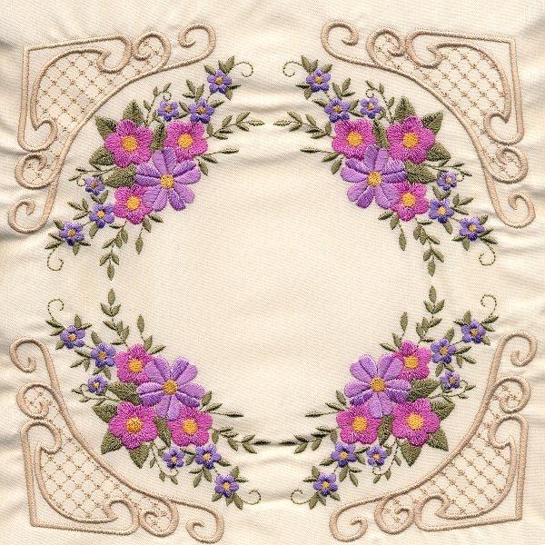 8x8 Floral Corner Quilt 4-4